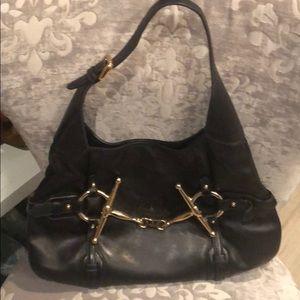 Black leather 85th Anniversary Gucci bag